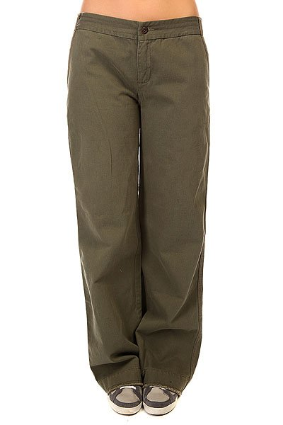 Штаны широкие женские Zoo York Pant Army Fatique