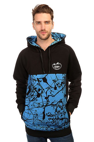 Толстовка сноубордическая Shweyka Blur Hoodie Turquoise/Black<br><br>Цвет: голубой,черный<br>Тип: Толстовка сноубордическая<br>Возраст: Взрослый<br>Пол: Мужской