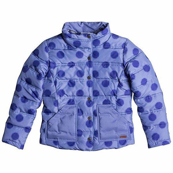 Куртка детская Roxy Snow Day G Jacket Ikat Polka DotRoxy Snow Day - яркая подростковаякурткав горох из новой коллекции. Выполнена из легкого полиэстера, поэтому в ней будет максимально удобно. Высокий воротник очень важен, ведь именно он защищает горло и шею от продувания холодным ветром. Без сомнения, в ней будет тепло холодными осенними вечерами.Характеристики:Внутренняя подкладка из тафты. Воротник-«стойка». Накладные карманы для рук. Прямой крой.<br><br>Цвет: синий<br>Тип: Куртка<br>Возраст: Детский