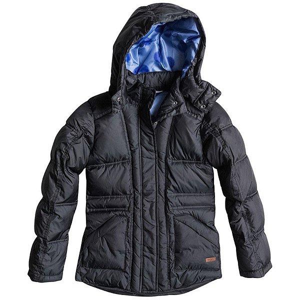 Куртка зимняя детская Roxy Free Style G Jacket True BlackСтильная городскаякурткас удобными вместительными передними карманами и съемным капюшоном. Этакурткасоздана для удобства и комфорта в городской среде и отлично впишется в повседневный гардероб.Характеристики:Мягкая подкладка.Съемный капюшон.Два передних кармана для рук. Приталенный крой.<br><br>Цвет: черный<br>Тип: Куртка зимняя<br>Возраст: Детский