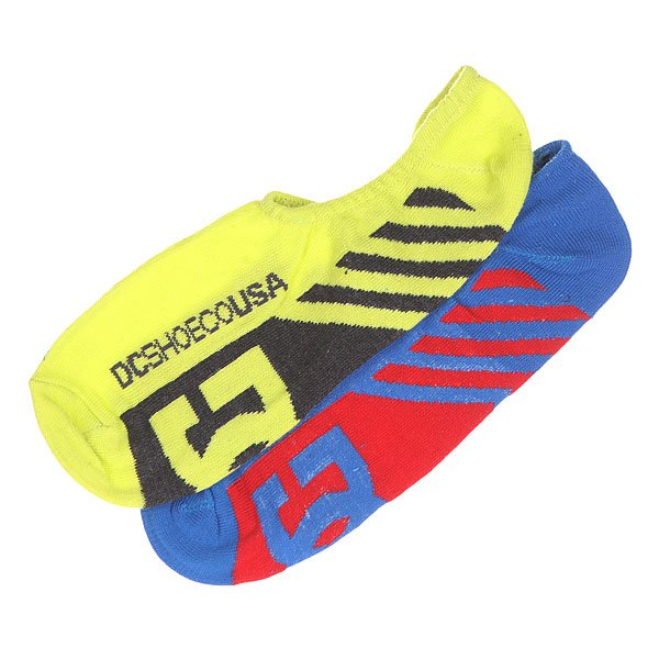 Носки низкие DC 2pk Sneakers Sole Socks Neon 2pk 36xl 37xl black