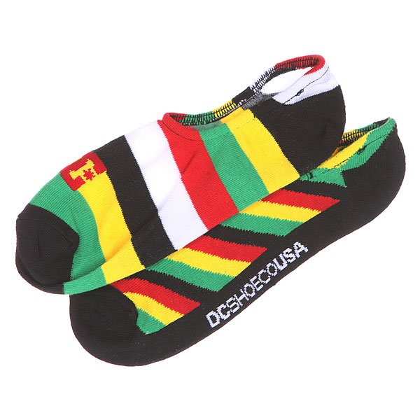 Носки низкие DC 2pk Sneakers Rasta Mix Socks Black