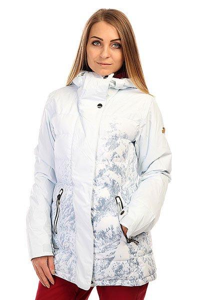 Куртка  женская Roxy Tb Cryst Pr Jk Winter ForestКоманда профессионалов Roxy совместно со всеми любимой сноубордисткой Торой Брайт плодотворно поработала над созданием куртки Crystalized, оснащая ее лучшими технологическими характеристиками и уникальным дизайном. Если Вам важен максимальный комфорт на склоне и гарантированная защита от снега, ветра и влаги, то про-модель Торы Брайт окажется удачным выбором. Куртка выполнена из водонепроницаемого мембранного материала Dry Flight 15К, который также обладает отличными дышащими свойствами, а согреться в сильный мороз поможет утеплитель 3M™ Thinsulate™ с пуховой набивкой. Приятная подкладка из тафты, высокий ворот, влагостойкая молния YKK® и множество карманов для Ваших мелочей окажутся дополнительными необходимыми бонусами.Характеристики:Водонепроницаемый мембранный материал Dry Flight 15К (15 000 мм / 15 000 г) с отличными дышащими свойствами. Утеплитель: 3M™ Thinsulate™ пуховая набивка 350 г/600 fill power + Type M (100 г тело, капюшон, рукава). Ультра-легкая подкладка из тафты. Приталенный силуэт. Швы проклеены в критических местах. Регулировка капюшона в трех направлениях. Отстегивающаяся снегозащитная юбка.Система прикрепления куртки к штанам. Влагостойкая молния YKK®.Защита подбородка от натирания. Гейтор ENJOY &amp; CARE. Клипса для ключей. Внутренний нагрудный карман на молнии. Медиа-карман. Внутренний карман для маски. Карманы для рук на молнии. Карман для ски-пасса на рукаве. Внутренние эластичные манжеты с отверстием для большого пальца. Регулируемые манжеты на липучке. Вентиляции с сетчатой подкладкой. Ткань для протирки оптики. Коллекция Mountain Life.<br><br>Цвет: белый<br>Тип: Куртка утепленная<br>Возраст: Взрослый<br>Пол: Женский