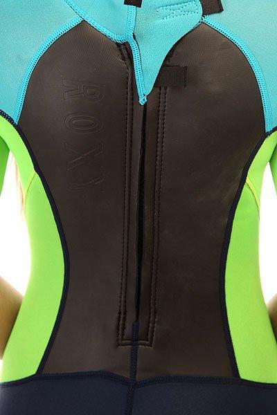 Гидрокостюм (Комбинезон) женский Roxy Syncro Back Zip Sprgsuit 2/2mm Ink Blue/Deep Cyanine/Yell от Proskater