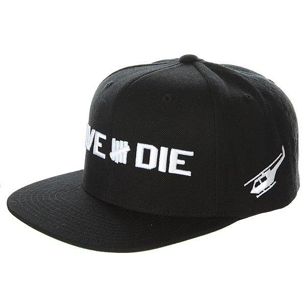 Бейсболка с прямым козырьком Undefeated Live & Die Cap Black
