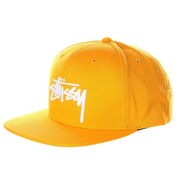 Бейсболка с прямым козырьком Stussy Stock Cap Yellow