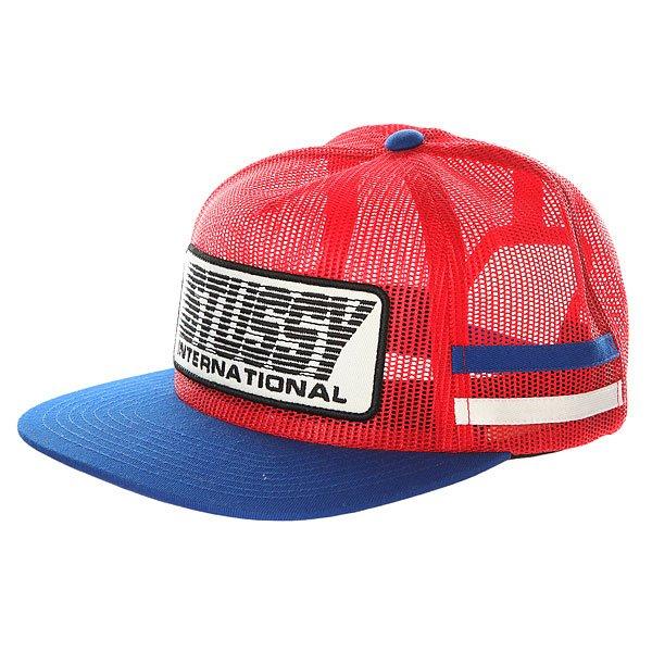 Бейсболка с сеткой Stussy Bmx Trucker Cap Red<br><br>Цвет: белый,синий,красный<br>Тип: Бейсболка с сеткой<br>Возраст: Взрослый