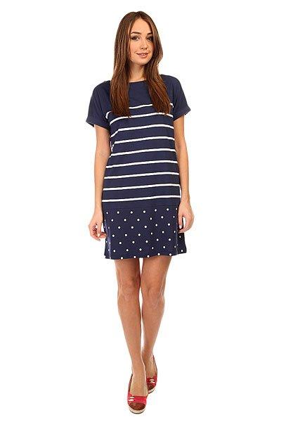 Платье женское Fred Perry Polka Dot And Stripe Jerey Drs Blue<br><br>Цвет: синий<br>Тип: Платье<br>Возраст: Взрослый<br>Пол: Женский