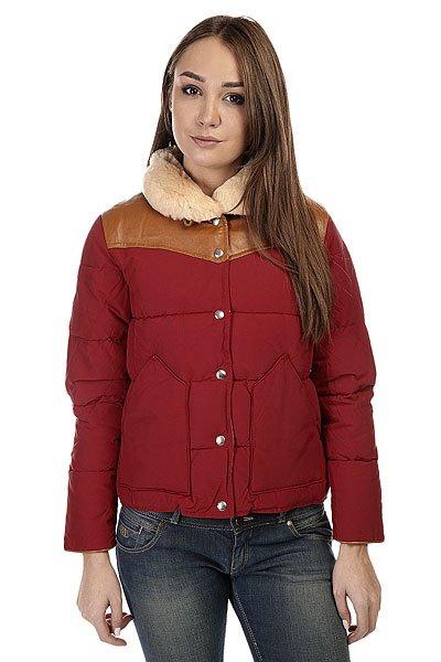 Пуховик женский Penfield Rockwool Leather Yoke Down Jacket RedСтильная женская курточка-пуховик, с которой вы не захотите расставаться.Характеристики:Застежка - кнопки. Воротник-стойка с отделкой из искусственного меха. Боковые карманы для рук. Подкладка из тафты.<br><br>Цвет: красный<br>Тип: Пуховик<br>Возраст: Взрослый<br>Пол: Женский