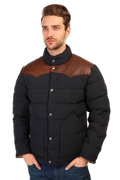 Пуховик легкий Муж Penfield Mens PELAM Leather Yoke Down Jacket Navy подставки и бумажные формы для выпечки