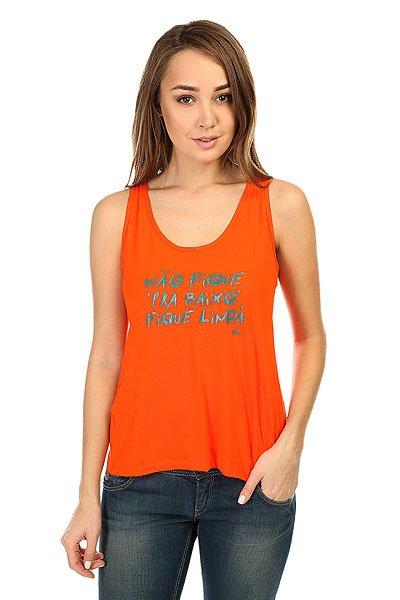 Майка женская CajuBrasil Newtrip T-Shirt Orange<br><br>Цвет: оранжевый<br>Тип: Майка<br>Возраст: Взрослый<br>Пол: Женский