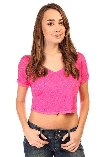 Топ женский CajuBrasil Croptop Spike Pink<br><br>Цвет: розовый<br>Тип: Топ<br>Возраст: Взрослый<br>Пол: Женский