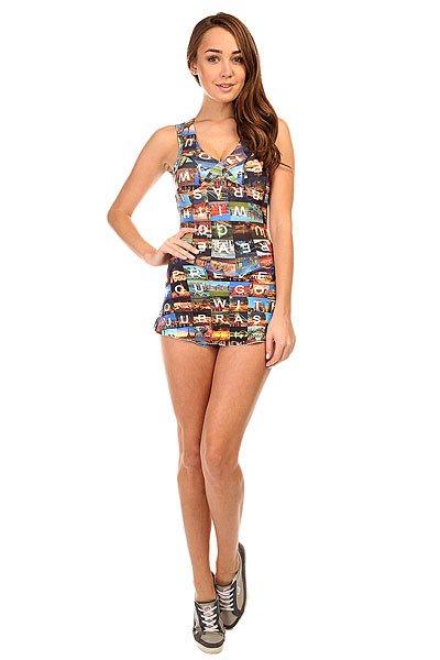 Комбинезон для фитнеса женский CajuBrasil Touch Dress Multi<br><br>Цвет: мультиколор<br>Тип: Комбинезон для фитнеса<br>Возраст: Взрослый<br>Пол: Женский