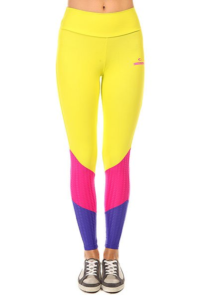 Леггинсы женские CajuBrasil New Zealand Legging Yellow/Blue/Pink