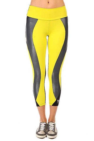 Леггинсы женские CajuBrasil Legging Supplex Black/Yellow<br><br>Цвет: желтый,черный<br>Тип: Леггинсы<br>Возраст: Взрослый<br>Пол: Женский