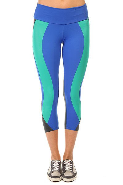 Леггинсы женские CajuBrasil Legging Supplex Blue/Grey/Green