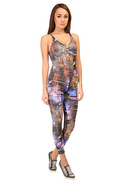 Комбинезон для фитнеса женский CajuBrasil Supplex Overall Multi/Black/BlueОсновными критериями в создании одежды торговой марки CajuBrasil являются качество, прочность, долговечность, удобство и конечно же стиль. Наша одежда создана, чтобы подчеркнуть Ваши достоинства и сделать занятия спортом максимально удобными и продуктивными. Будь стильной и модной даже при занятиях спортом.Характеристики:Изготовлен из полиамида и эластана.Цельный силуэт с длинными облегающими брюками.Мягкие обработанные швы.<br><br>Цвет: мультиколор<br>Тип: Комбинезон для фитнеса<br>Возраст: Взрослый<br>Пол: Женский