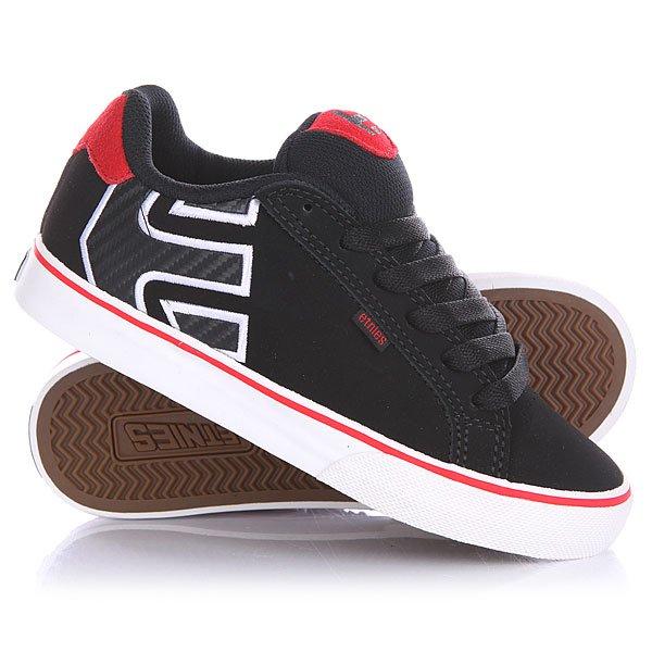 Кеды кроссовки низкие детские Etnies Fader Vulc Black/Red/White кеды кроссовки низкие dc argosy vulc black gold