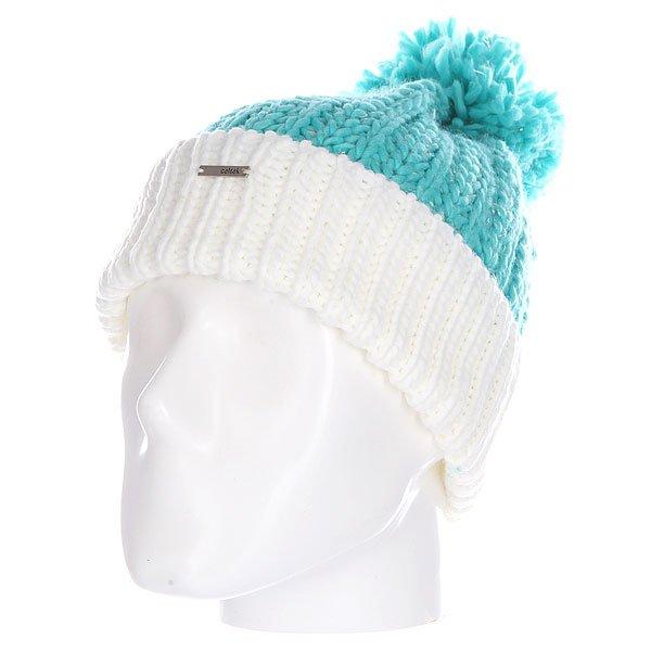 Шапка женская Celtek Zen Pom Beanie Turquoise<br><br>Цвет: голубой,белый<br>Тип: Шапка<br>Возраст: Взрослый<br>Пол: Женский