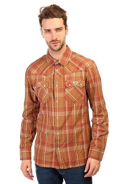 Рубашка в клетку Etnies Howdy Woven Khaki<br><br>Цвет: коричневый<br>Тип: Рубашка в клетку<br>Возраст: Взрослый<br>Пол: Мужской