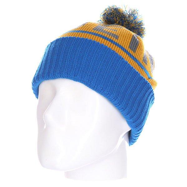 Шапка детская Etnies Steppen Beanie Blue/Yellow<br><br>Цвет: желтый,голубой<br>Тип: Шапка<br>Возраст: Детский