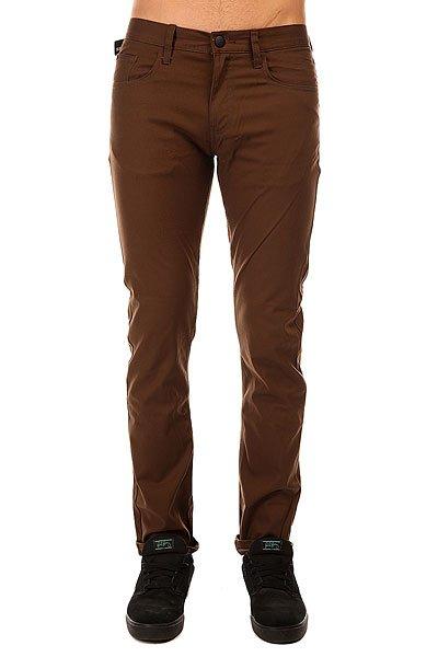 Штаны узкие Emerica Hsu Slim 5 Pocket Choco<br><br>Цвет: коричневый<br>Тип: Штаны узкие<br>Возраст: Взрослый<br>Пол: Мужской