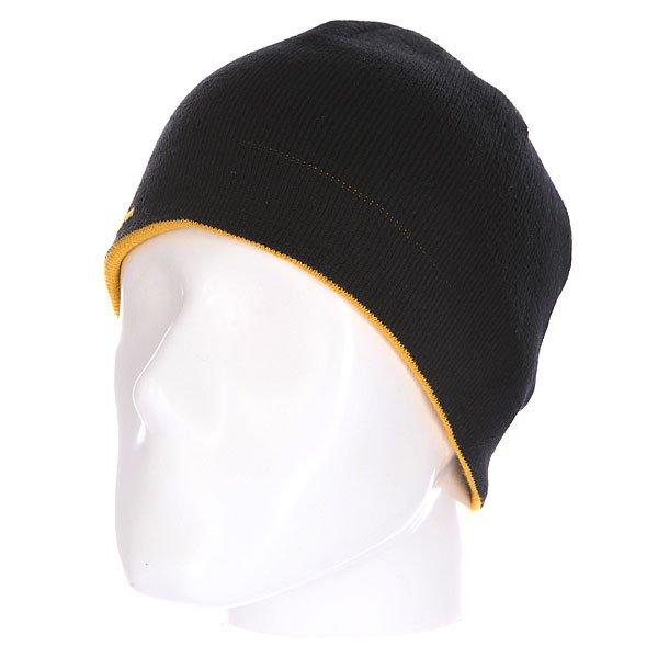Шапка Emerica Pure Reversiable Beanie Black<br><br>Цвет: желтый,черный<br>Тип: Шапка<br>Возраст: Взрослый<br>Пол: Мужской