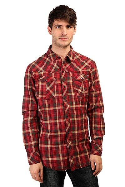 Рубашка в клетку Zoo York High Street Crimson рубашка в клетку zoo york prospect crimson
