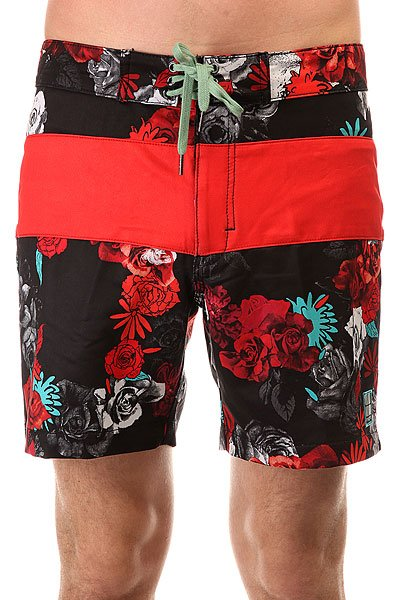 Шорты пляжные Insight Bloom Rays Floyd Black<br><br>Цвет: черный,красный<br>Тип: Шорты пляжные<br>Возраст: Взрослый<br>Пол: Мужской