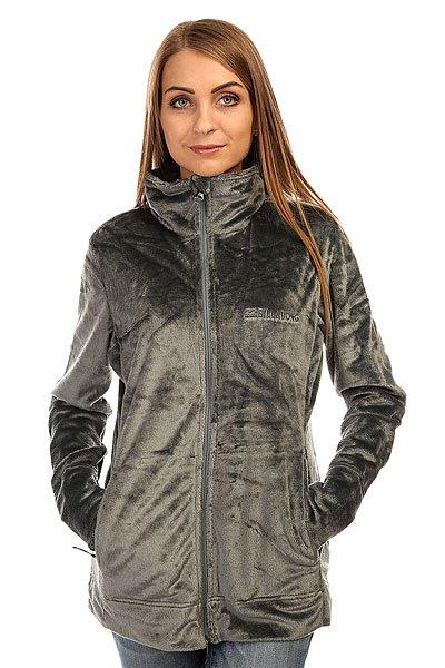 Толстовка утепленная женская Billabong Fleecy Ash Grey толстовка мужска billabong chopper hood 2016 neutral grey m