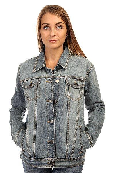 Куртка джинсовая женская Billabong Louise Light Well WornСтильная женская джинсовая куртка, которая обеспечит отличный внешний вид и удачно впишется в Ваш гардероб. Деним с эффектом стирки с отбеливанием придает стиля, а вышитый рисунок на спине добавляет оригинальности.Характеристики:Джинсовая куртка с эффектом стирки с отбеливанием. Металлические пуговицы. Вышитый рисунок на спине. Манжеты на пуговицах. Регулируемый подол (пуговицы). Удобные карманы.<br><br>Цвет: синий<br>Тип: Куртка джинсовая<br>Возраст: Взрослый<br>Пол: Женский