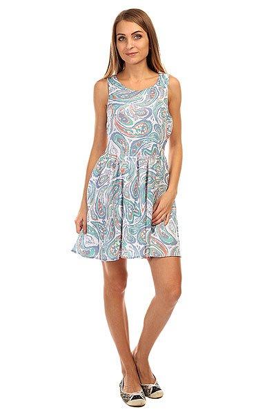 Платье женское Insight Satellite Dress Satellite DustedОтличное платье для лета! Подойдет и для города, и для пляжа.Характеристики:Свободный крой. Открытая спинка с застежкой-пуговицы. Вырез на спине.Декоративный принт.<br><br>Цвет: мультиколор<br>Тип: Платье<br>Возраст: Взрослый<br>Пол: Женский