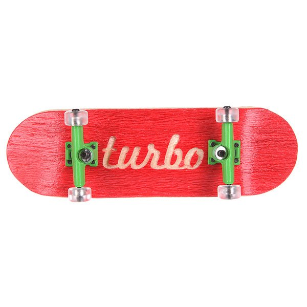 Фингерборд Turbo-FB П10 Гравировка Red/Green/Clear<br><br>Цвет: красный<br>Тип: Фингерборд<br>Возраст: Взрослый<br>Пол: Мужской