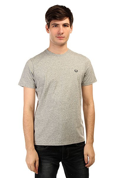 Футболка Fred Perry Crew Neck T-Shirt Grey поло детское fred perry my first fred perry shirt black