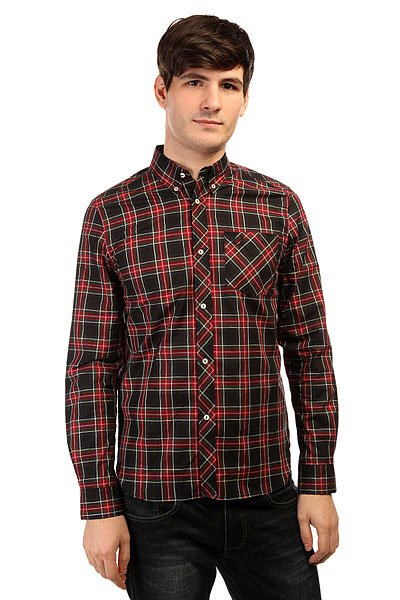 Рубашка в клетку Fred Perry Tartan Shirt Red/Green/Black поло детское fred perry my first fred perry shirt black