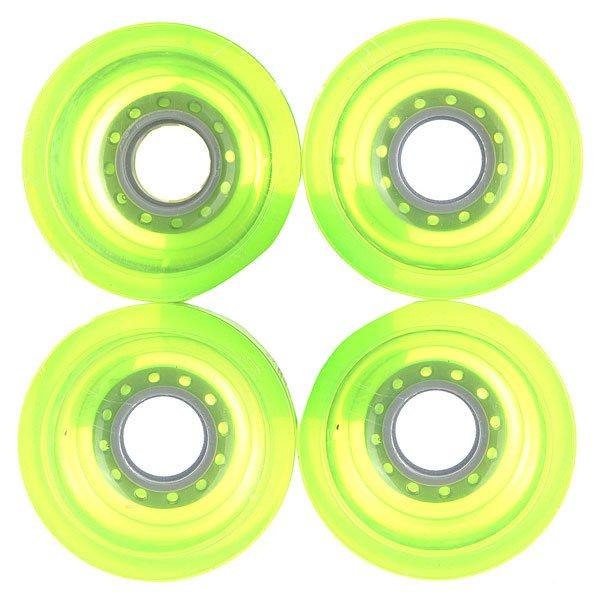 Колеса для скейтборда для лонгборда Pure Longboard Clear Green 83A