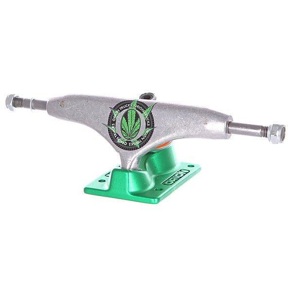 Подвеска для скейтборда 1шт. Pure Orion Ultimate Sweat Leaf Green/Orange 5 (12.7 см)Ширина подвесок: 5 (12.7 см)    Высота подвесок: 53 мм    Цена указана за 1 шт    Минимальное количество для заказа 2 штПодвеска Pure для вашего скейтборда.Характеристики:Изготовлены из металла.<br><br>Цвет: зеленый,оранжевый<br>Тип: Подвеска для скейтборда