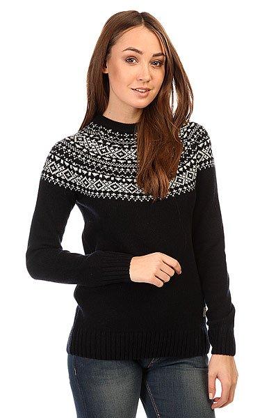 Свитер женский Penfield Freeman Fairisle Crew NavyТолстый вязаный свитер с узором-снежинкой.Технические характеристики: Шерсть ягнят.Декоративный узор - снежинка.Трикотажные манжеты и подол.<br><br>Цвет: черный,белый<br>Тип: Свитер<br>Возраст: Взрослый<br>Пол: Женский