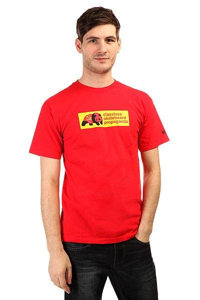 Футболка Enjoi Propaganda Red<br><br>Цвет: красный<br>Тип: Футболка<br>Возраст: Взрослый<br>Пол: Мужской