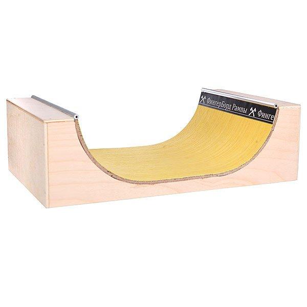 Фигура для фингерпарка Turbo-FB Мини рампа S Beige/Yellow