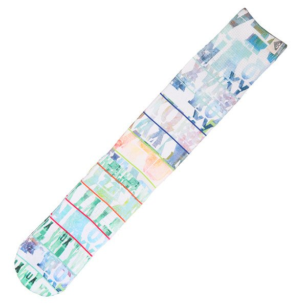 Носки сноубордические женские Roxy Ski Sock Mazzy Sub Print White<br><br>Цвет: бежевый,мультиколор<br>Тип: Носки сноубордические<br>Возраст: Взрослый<br>Пол: Женский