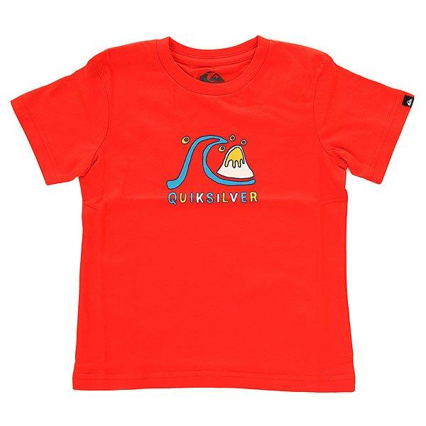 Футболка детская Quiksilver Tee dubbl Poinciana<br><br>Цвет: оранжевый<br>Тип: Футболка<br>Возраст: Детский