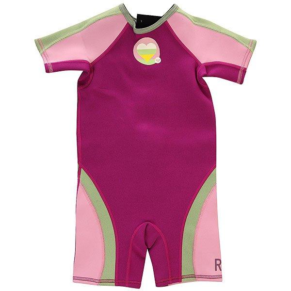 Гидрокостюм детский Roxy Syncro 1.5mm Spring Grey<br><br>Цвет: розовый,фиолетовый,зеленый<br>Тип: Гидрокостюм<br>Возраст: Детский