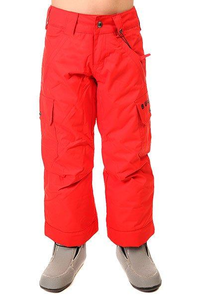 Штаны сноубордические детские Burton Exile Cargo Pt BurnerДля юных сноубордистов Burton создал теплые и удобные штаны с мембраной DRYRIDE Durashell™ 2L и утеплителем Thermacore™.Технические характеристики:Водонепроницаемая и дышащая мембрана DRYRIDE Durashell™ 2-Layer.Утеплитель - Thermacore™.Подкладка - тафта.Система Room-To-Grow™ позволяет увеличить размер штанов по мере роста ребенка.Система приподнимания края штанин Leg Lifts™.Вентиляционные отверстия на молнии.Петли для ремня.Карманы для рук на молнии.Задние карманы.Набедренные карманы-карго.Липучки Velcro®.<br><br>Цвет: красный<br>Тип: Штаны сноубордические<br>Возраст: Детский