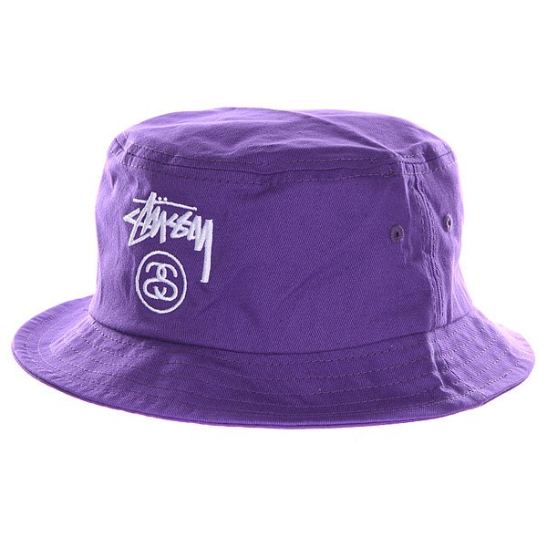 Панама Stussy Stock Lock Bucket Hat Purple
