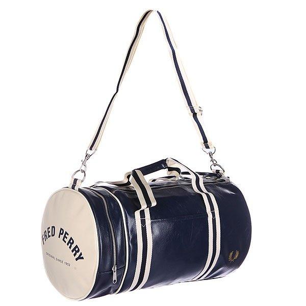 Сумка спортивная Fred Perry Classic Barrel Bag Navy/Beige