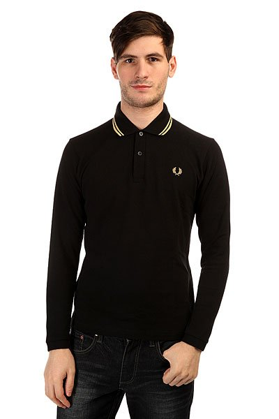 Поло Fred Perry Twin Tipped Fp Shirt Black поло детское fred perry my first fred perry shirt black