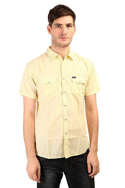 Рубашка Brixton Wayne S/S Woven Yellow