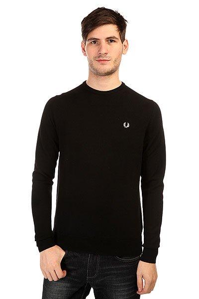 Джемпер Fred Perry Classic Crew Neck Sweater Black fred perry ремень fred perry woven cord belt black