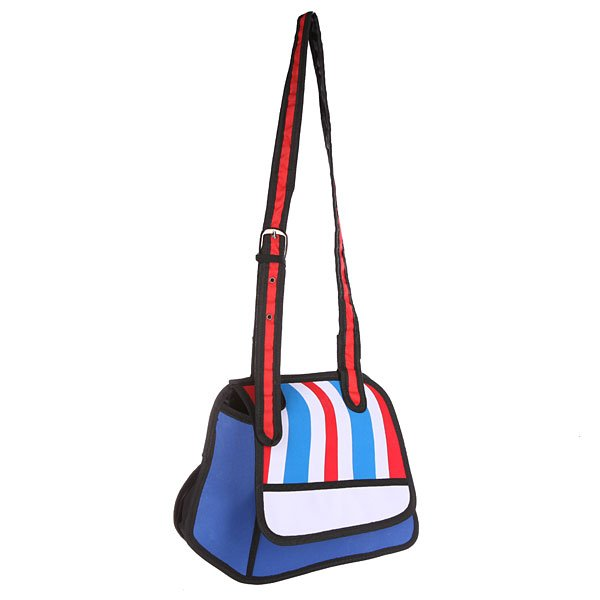Сумка через плечо женская Jump from paper 2D Light Line Blue/Red/BlackЯркая, стильная сумка на любой случай. Удобная длинная лямка позволяет носить сумку на плече или через плечо в зависимости от Вашего настроения!Технические характеристики: Большое основное отделение, в которое можно положить книги, ноутбук или немного одежды.Наружный карман на молнии.Изготовлена из водонепроницаемого материала.Регулируемая плечевая лямка.Застежка - кнопка.<br><br>Цвет: синий,красный,черный<br>Тип: Сумка через плечо<br>Возраст: Взрослый<br>Пол: Женский